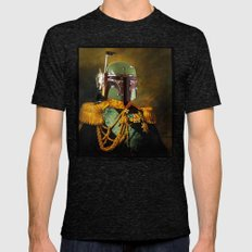 Portrait Of Boba Fett Mens Fitted Tee Tri-Black SMALL