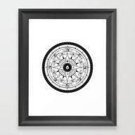 Compass Rose Framed Art Print