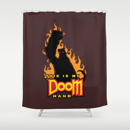 This is My Doom Hand Shower Curtain