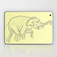Elephant Swimming Gestural Drawing Laptop & iPad Skin
