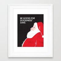 Christmas Be Good Framed Art Print