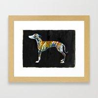 Greyhound Framed Art Print