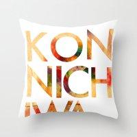 Konnichiwa! Throw Pillow