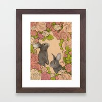 Rosie Rabbits Framed Art Print