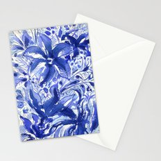 Blue flowers. Stationery Cards