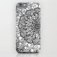 Shades Of Grey - Mono Fl… iPhone 6 Slim Case