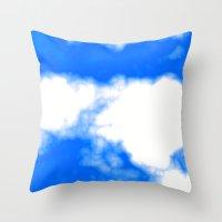 Blue Cloud Throw Pillow