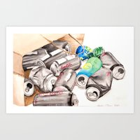 Spilled Cans Art Print