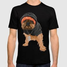 Gangster Digby Mens Fitted Tee Black SMALL