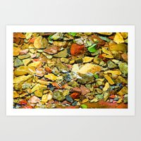 A Colorful Creek, Glacie… Art Print