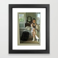 Self Portrait with Camera Framed Art Print