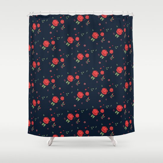 Classic western rose pattern  Shower Curtain