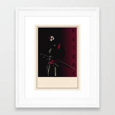 KATANA POSTER Framed Art Print