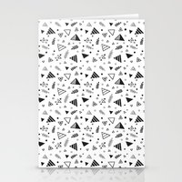 Organic Triangles Stationery Cards