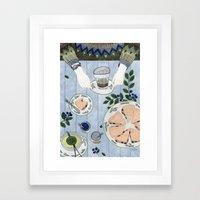 Blueberry Scones Framed Art Print