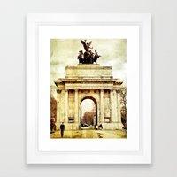 Wellington Arch Framed Art Print