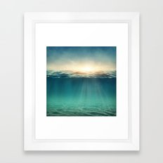 Sea Sunshine Framed Art Print