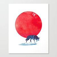 Fear the red Canvas Print