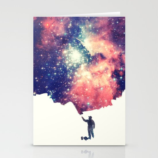 Painting the universe Stationery Card