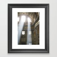 Sun rays in the Vatican Framed Art Print