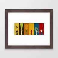 Framed Art Print featuring Justice by The Art Of Danny Haa…