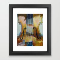 Violin Painting Framed Art Print