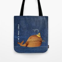 i am a happy whale Tote Bag