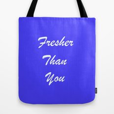 Fresher Thank You : Periwinkle Tote Bag
