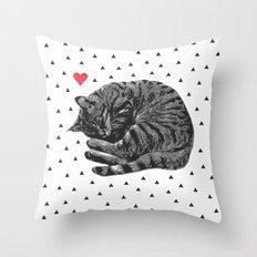 Little ball of fur Throw Pillow