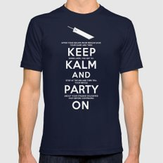 Final Fantasy 7: Keep Kalm Mens Fitted Tee Navy SMALL