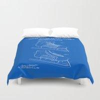 Hockey Skate Patent - Blueprint Duvet Cover