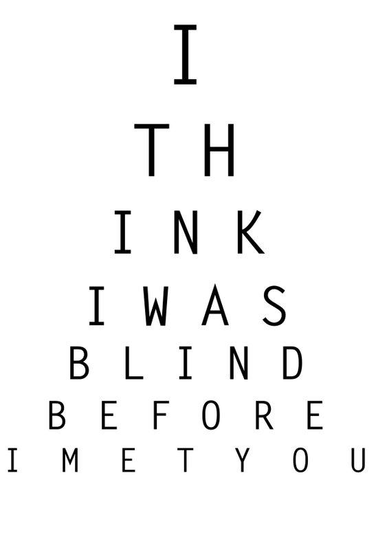 I think I was blind Art Print