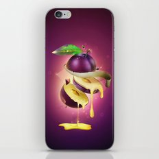 Sliced Plum iPhone & iPod Skin