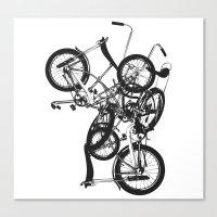Bike Chaos Canvas Print