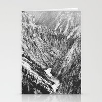 Canyon Black and White Stationery Cards