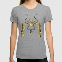 Wild Tartan Womens Fitted Tee Tri-Grey SMALL