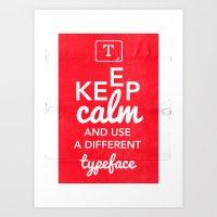 Keep Calm And Use A Diff… Art Print