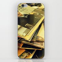 Old Blue Eyes And LPs iPhone & iPod Skin