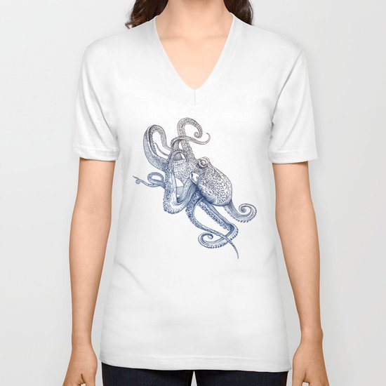 Octo Flow V-neck T-shirt