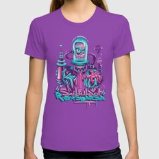 Killer Robot Womens Fitted Tee Ultraviolet SMALL