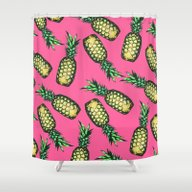 Shower Curtain featuring Pineapple Pattern by Georgiana Paraschiv
