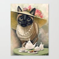 Lady Cat Canvas Print