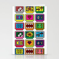 8-bit Game Cartridges Stationery Cards