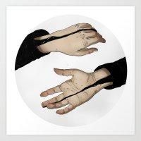 Hands In The Dark Art Print