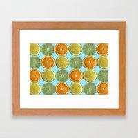 Lemons, Limes, Oranges, Oh my!  Citrus Photography Framed Art Print