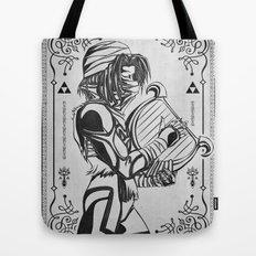Legend of Zelda Shiek Princess Zelda Geek Line Art Tote Bag