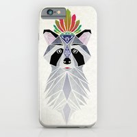 iPhone Cases featuring raccoon spirit by Manoou