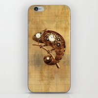 Steampunk Chameleon Vintage Style iPhone & iPod Skin