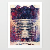 disquiet eight (sine) Art Print