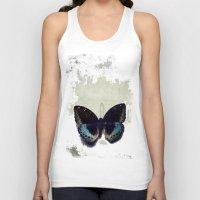 Vintage Butterfly 4 Unisex Tank Top